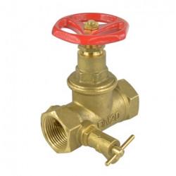 """Přímý ventil 6/4"""" - uzavírací s odvodněním"""